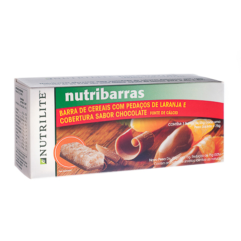 NUTRIBARRAS LARANJA COM CHOCOLATE
