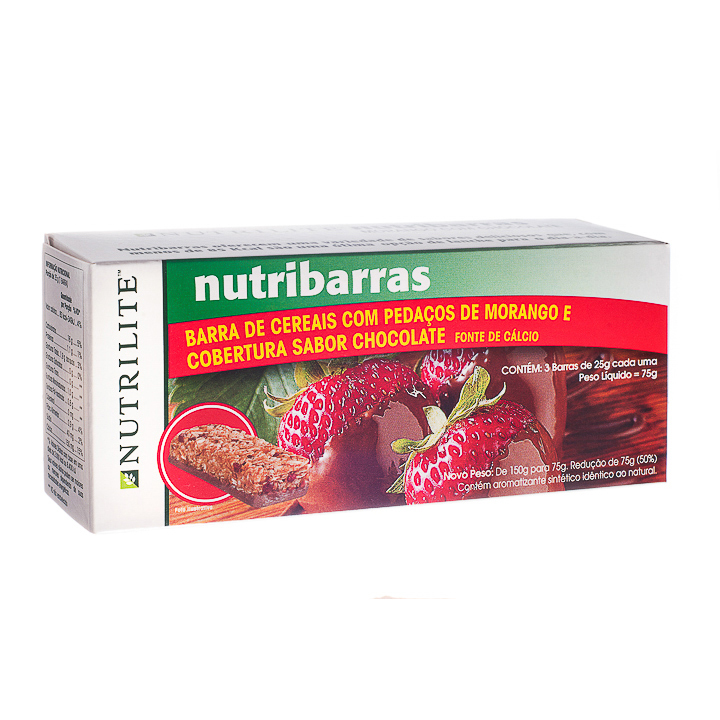 NUTRIBARRAS MORANGO COM CHOCOLATE